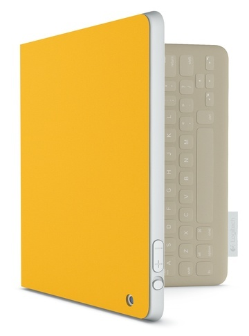 Classic with a casual twist. A celebration of natural warmth through fine-weave, high-quality cotton, harmoniously balanced with soft khaki hues inside. Logitech FabricSkin Keyboard Folio in Sunflower Yellow. ($149.99)