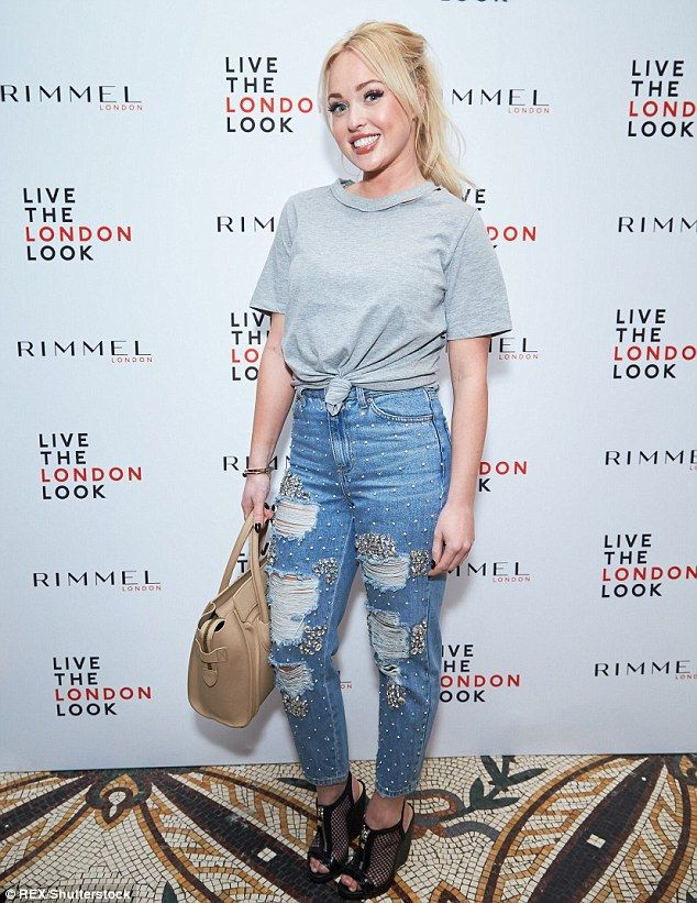 She's got great jeans! Jorgie Porter arrived at the bash in a pair of embellished distress...
