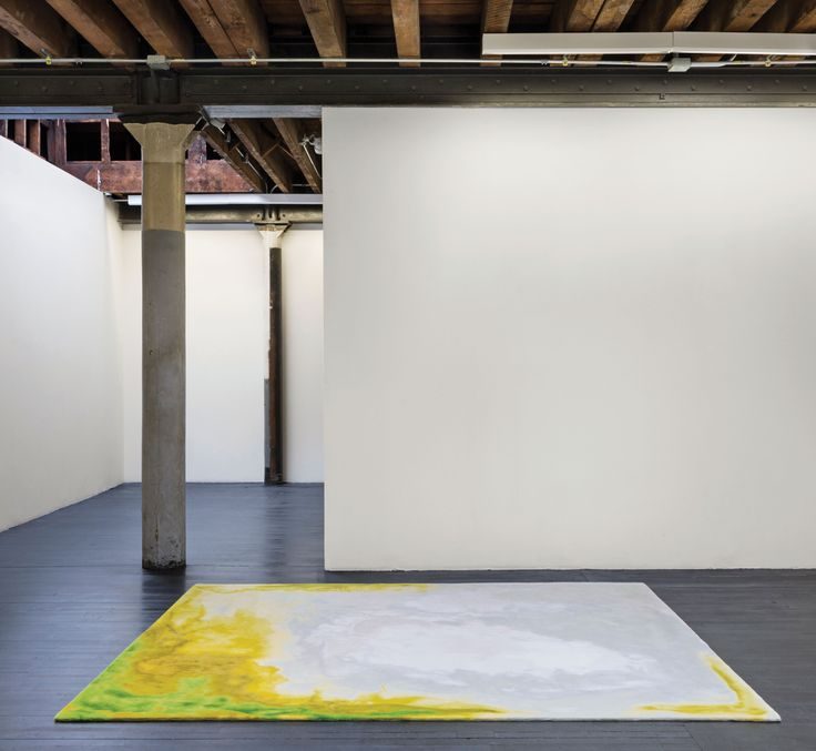Tai Ping #Carpets, Chroma Collection, Fluxus: This #rug features an irregular border made from intricate #brushstrokes, resembling a #watercolour #painting that evokes an almost trompe l'oeil effect. The gradations of acid #yellows are accented with apple #green, made in a high cut pile of semi-worsted wool.