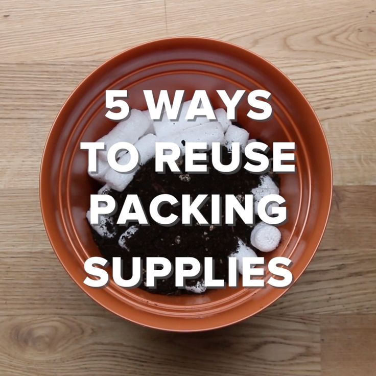 5 Ways To Reuse Packing Supplies // #diy #recycle #reuse #packingsupplies #Nifty