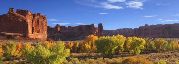 Spectacular Moab, Utah In Fall: Vivid Leaves, Mountains, Rocks and Canyons