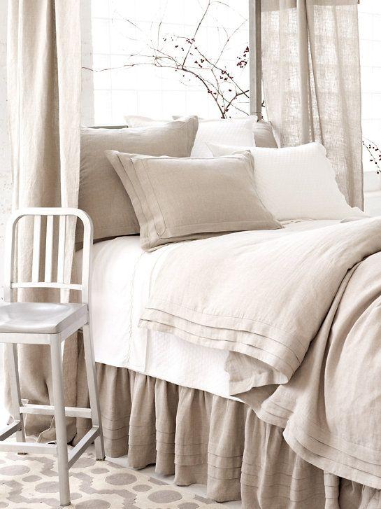 Subtle sophistication and beautiful detail join together on our neutral linen…