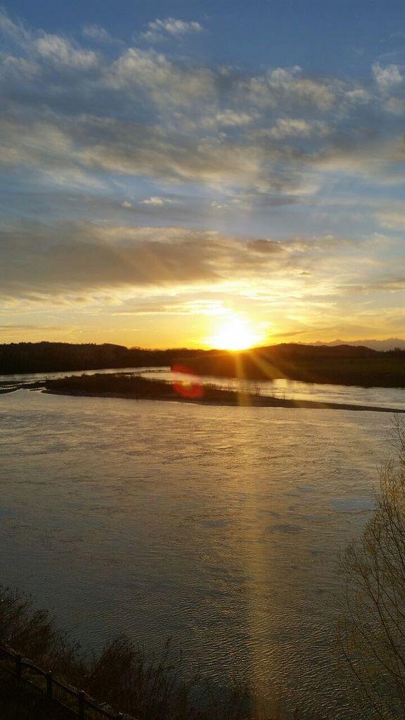 Sunset - Po river - Casale Monferrato  -Italy -