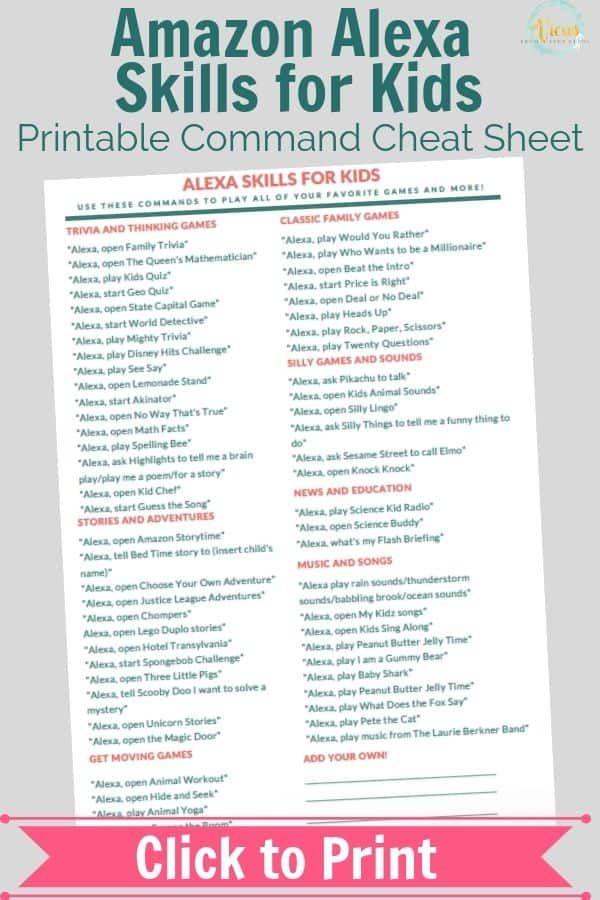 70 Alexa Skills For Kids Alexa Skills Amazon Alexa Skills