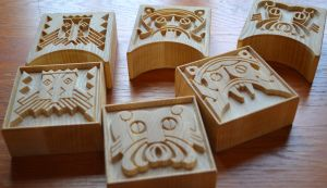 Drageblokker - Stamps for printing sheepskin