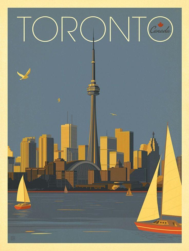Vintage Toronto poster #CityPoster #vintagetravelposters