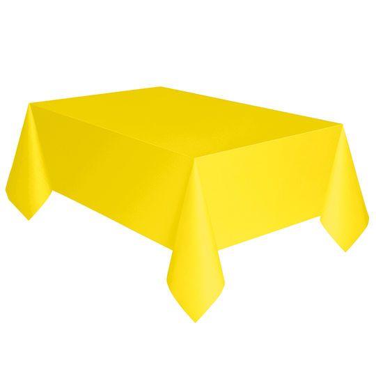 "Plastic Neon Yellow Tablecloth, 108"" x 54"""