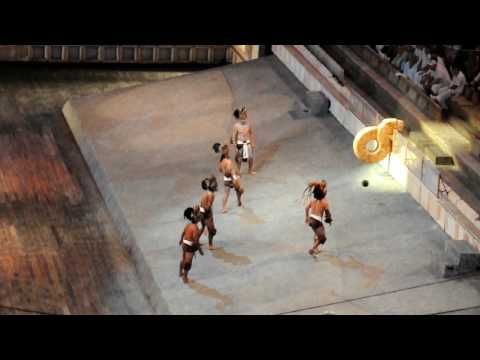 Xcaret - Pok-ta-Pok - Mayan ball game - YouTube - Also a sport played in other parts of precolumbian Mesoamerica under different names and with different rules.