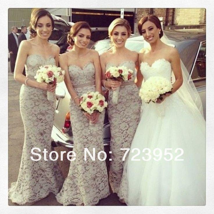 Beautiful lace bridesmaids dress