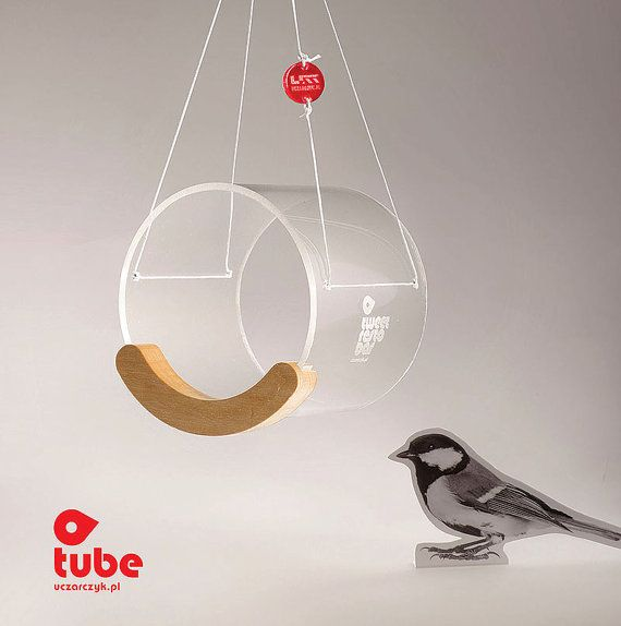 Bird Lover Gift, Bird feeder, Hanging bird feeder, Window bird feeder, Modern bird feeder, Birdwatching, Minimalist, Small bird, Tweet, Tube