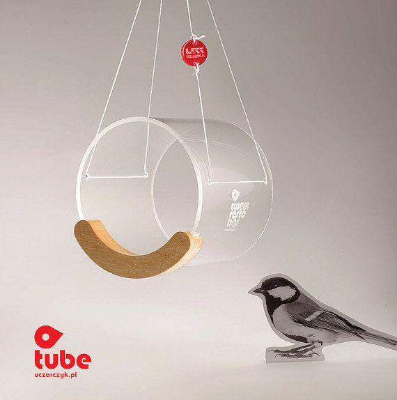 Bird Lover Gift, Bird feeder, Hanging bird feeder, Window bird feeder, Modern bird feeder, Birdwatching, Minimalist, Small bird, Tweet, Tube