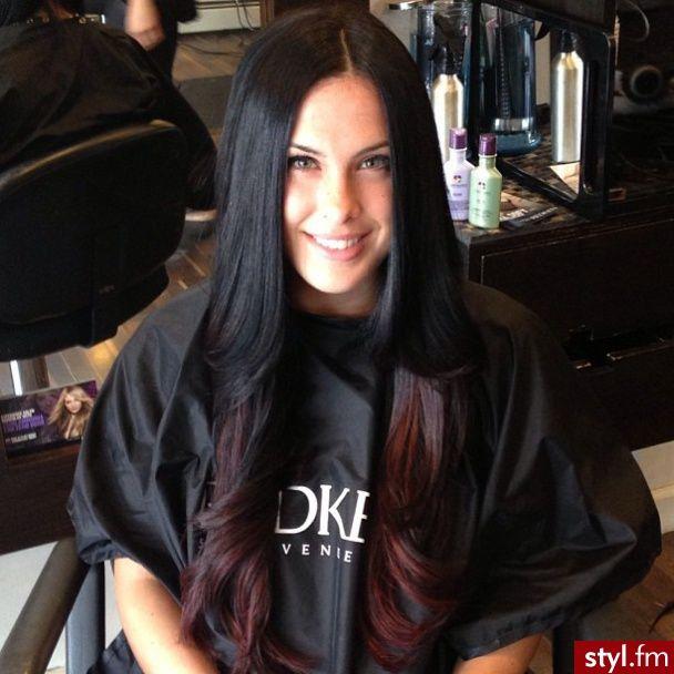 Fryzury Czarne włosy: Fryzury Długie Na co dzień Proste Rozpuszczone Czarne - ladyluscious - 2626300