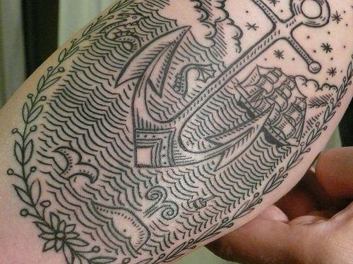 ,: Tattoo Ideas, Body Art, Nautical Tattoo, Tattoo Patterns, Tattoo Design, East Rivers, Sea Monsters, New Tattoo, Anchors Tattoo