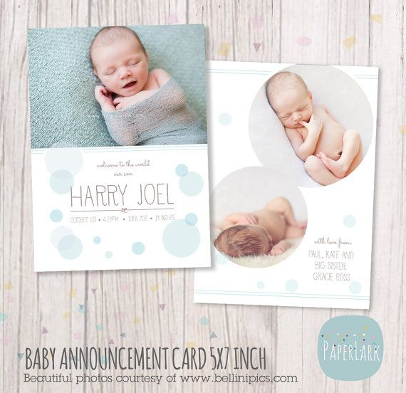 The 25 best Newborn birth announcements ideas – New Baby Born Announcement