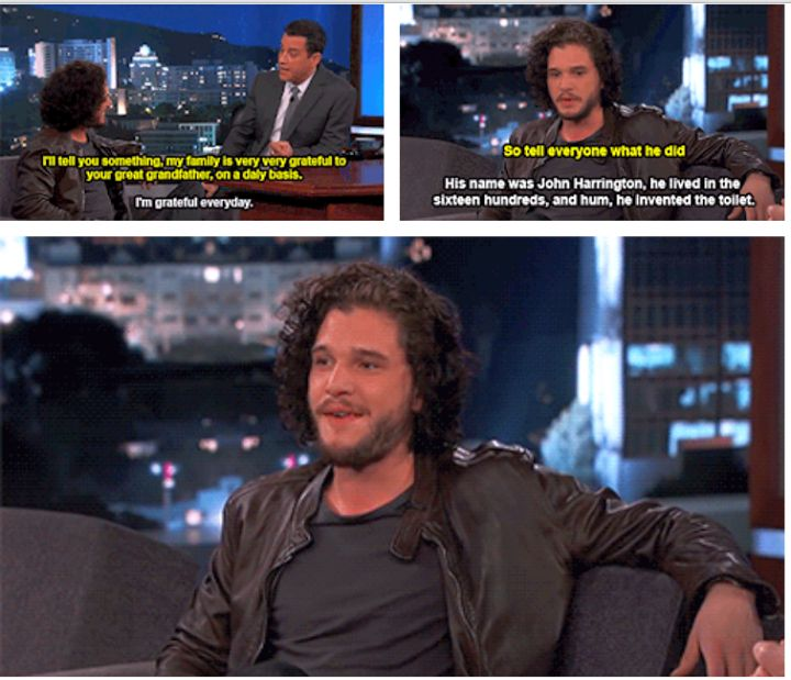 Game of Trones Interviews. Kit harington about his great grandfather