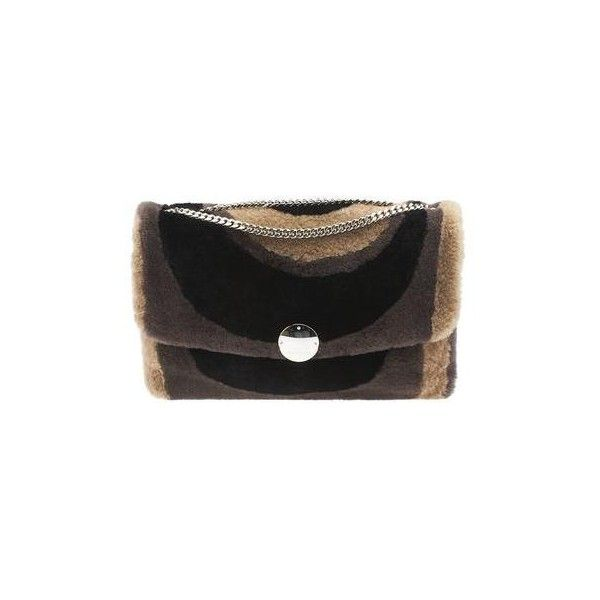 Pre-owned Marc Jacobs Big Bunny Striped Fur & Shearling Shoulder Bag (15525 TWD) ❤ liked on Polyvore featuring bags, handbags, shoulder bags, striped shoulder bag, shoulder bag purse, striped purse, marc jacobs handbags and shoulder handbags