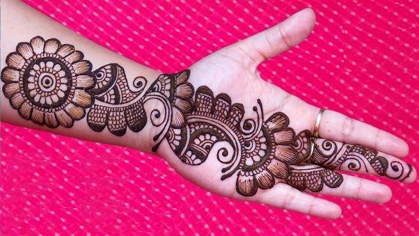 arabic latest simple mehendi designs