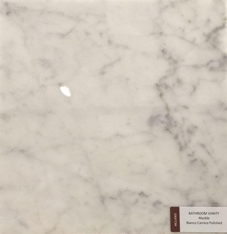 Included Bathroom Vanity Countertop - Bianco Carrara Polished Marble