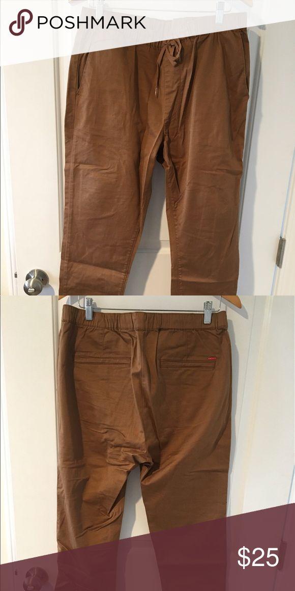 Bullhead Brown Joggers Bullhead  skinny large brown Joggers Bullhead Pants Track Pants & Joggers
