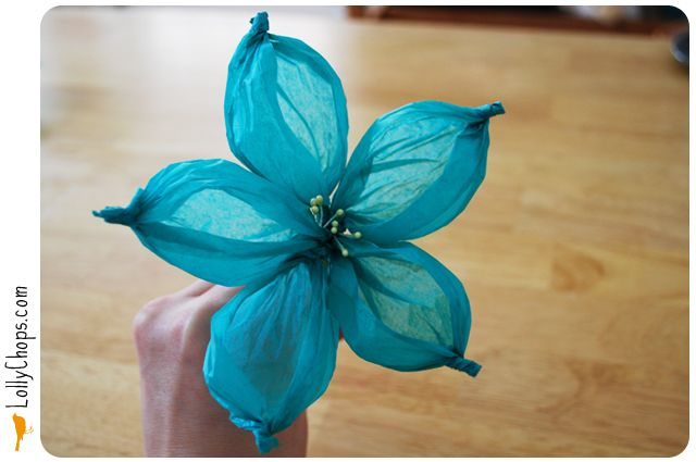 """Pinner says """"My friend went to a wedding recently where they created 400 of these flowers out of light pink tissue paper."""" Cute idea"""
