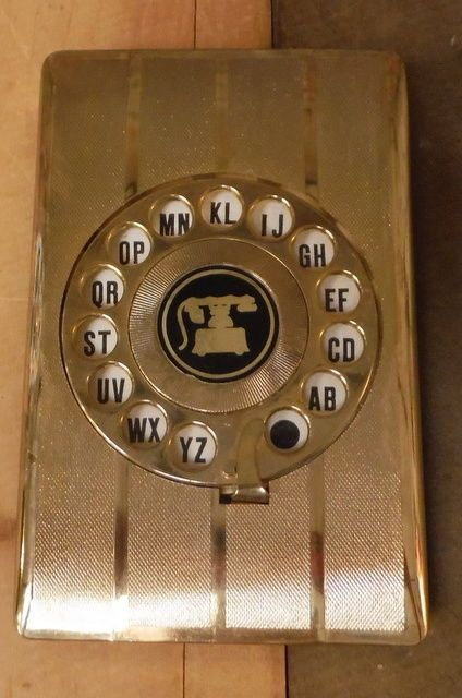 Vintage Mid Century Dial-a-Name Telephone Index Directory - Hollywood Regency