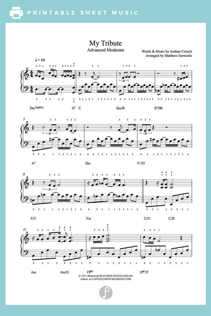 andrae crouch sheet music pdf