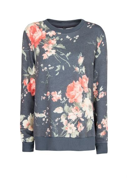 what a lovely sweatshirt to pair with gray jeans or a pencil skirt and heels for work