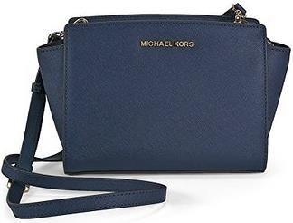 Michael Kors MD Messenger Selma Schultertasche #Tasche #Blau #Dunkelblau #Midnight #Leder #Accessoire #Galaxus