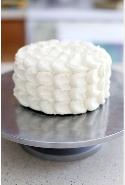 frosting techniques first birthday cake | Fluffy Cloud cake Links to Love: Cake Decorating Tips and Tricks!