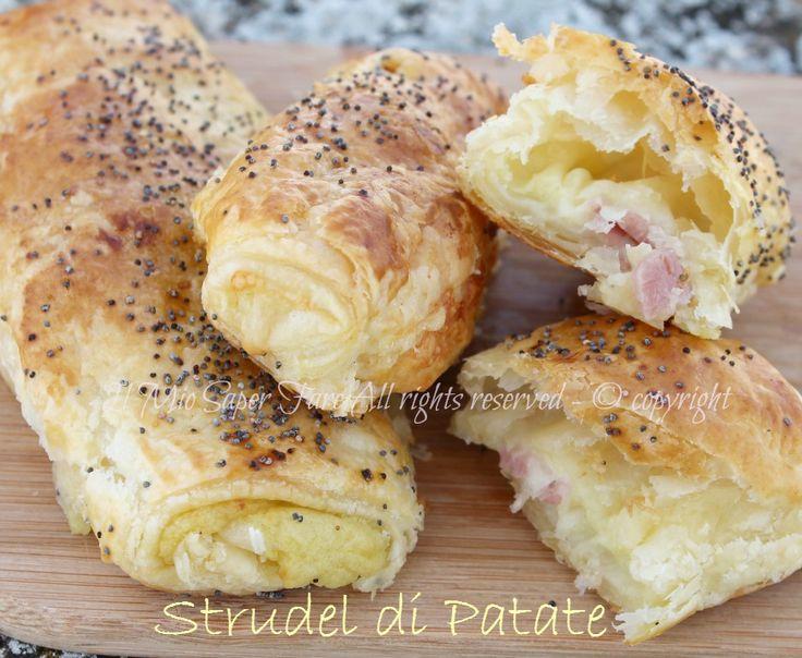 Strudel di patate e prosciutto  ricetta il mio saper fare