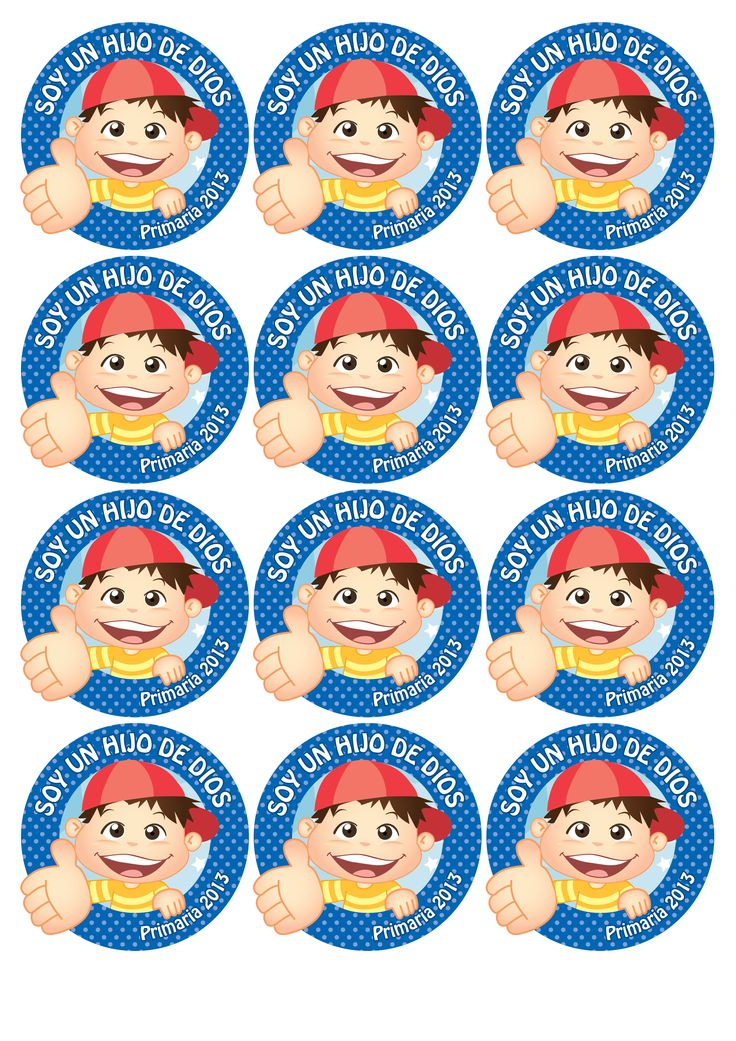 Distintivos para los niños, lo pueden usar el día de la presentación!