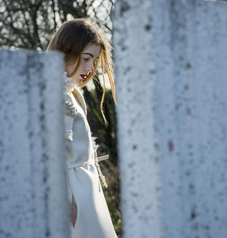 Fashion photography and make-up : Linda Miu Vlachova Model : Anet Piknova, Exit model management Fashion Designer : Erika Daxner-ová  #clothes #witner #coat #hair #sun #white #dress #fashion #design #model #girl #women #photography #outdoor #gray #background #nature #blond