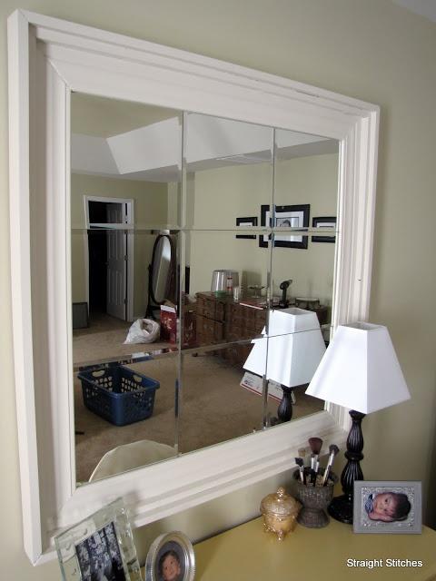 wall mirror diy tutorial shabby chic   Rustic French country decor idea
