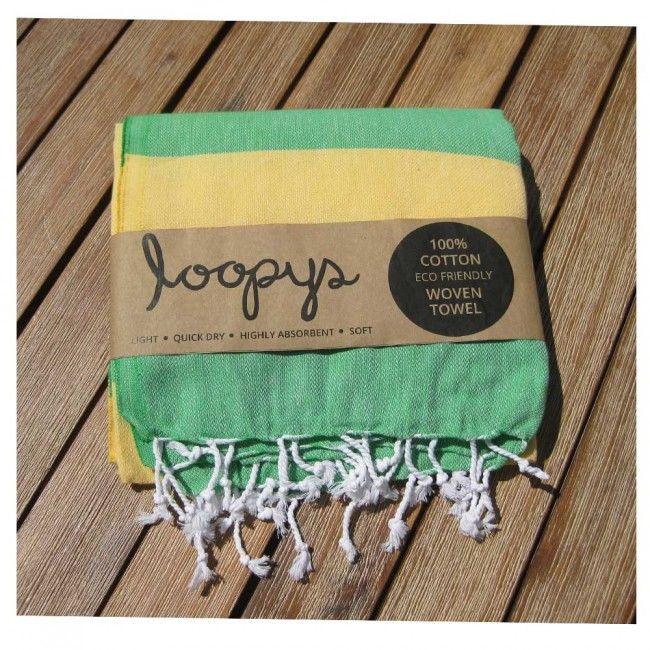 Apple/ Lemon Australia Candy Stripe Turkish Beach Peshtemal Hammam Towel