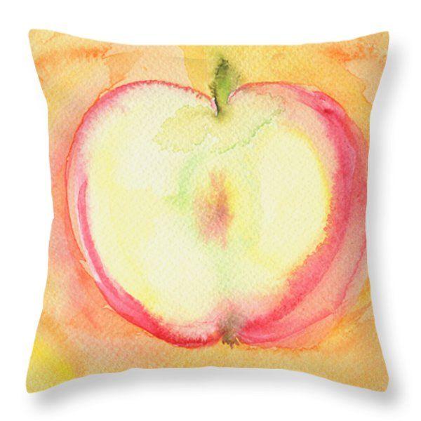 Throw Pillows - Delicious Apple Throw Pillow by Kathleen Wong