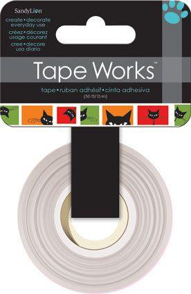 Black Cat Washi Tape  Halloween Cat Decorative Tape  by iluvdesign