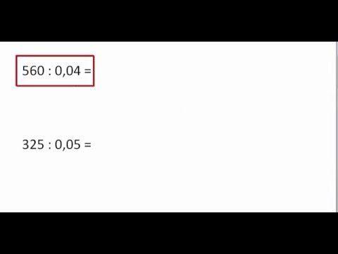 (27) Diversen: Heel getal delen door een kommagetal. - YouTube