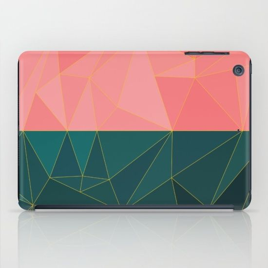 Mozaik iPad Case by Fimbis #teal #pink #yellow #green #ipadmini #ipadair