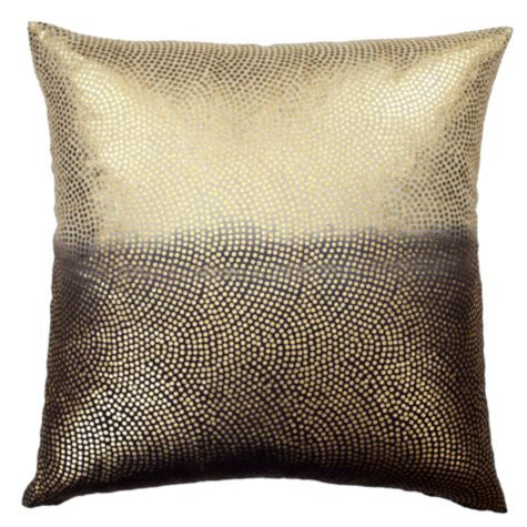 "Metallic Dot Pillow 24"" - Chocolate from Z Gallerie"