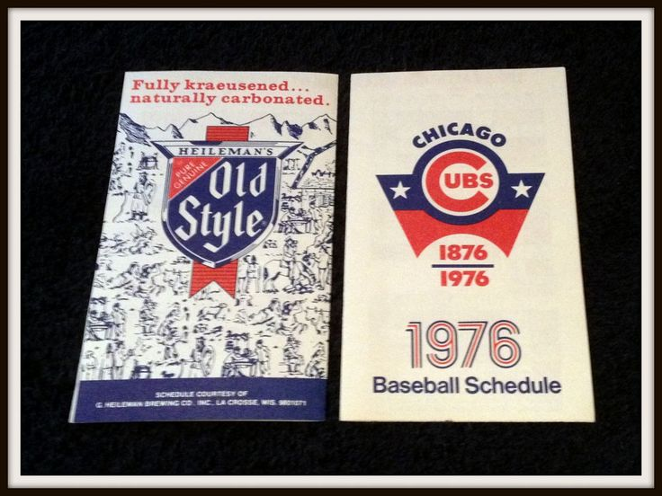 1976 CHICAGO CUBS OLD STYLE BEER 3 X 5 INCH BASEBALL SCHEDULE FREE SHIPPING #Pocket