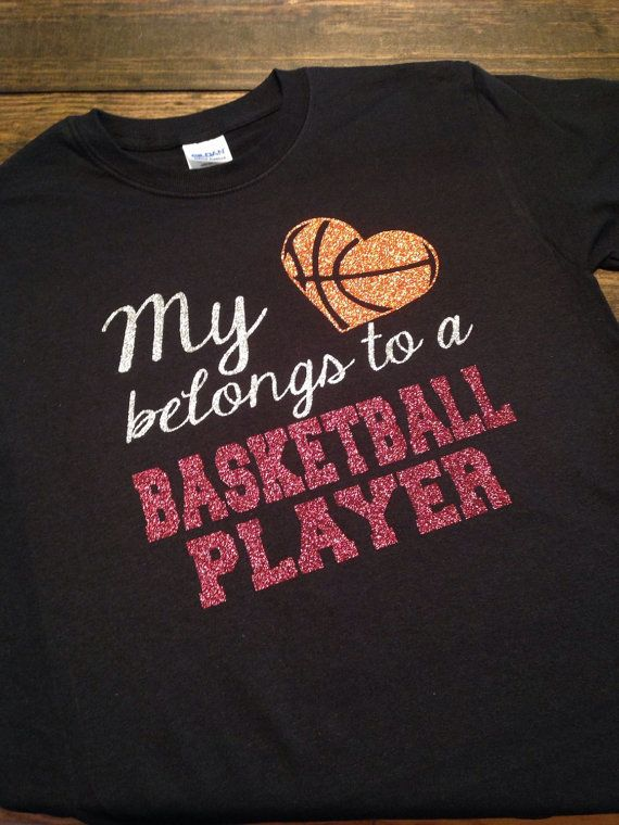My Heart Belongs To A Basketball Player Mom by MissyLuLus on Etsy