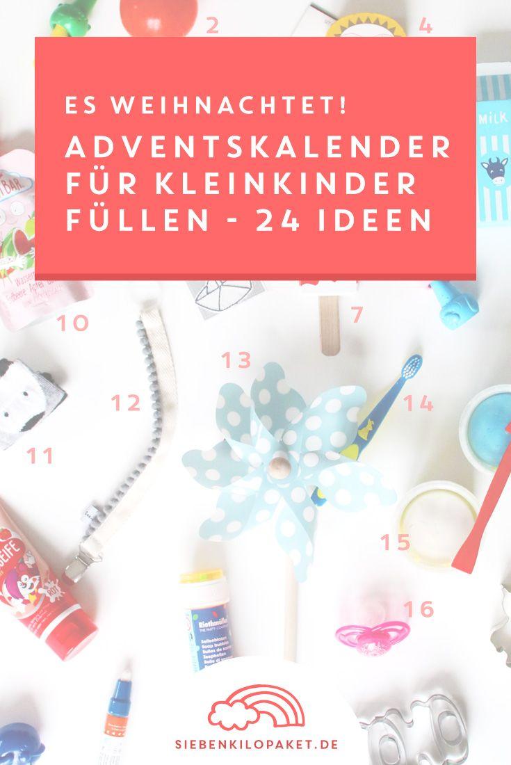 Weihnachten mit Kleinkindern: Was tun in den Adventskalender für Kleinkinder? Hier findest du 24 Ideen und Geschenke