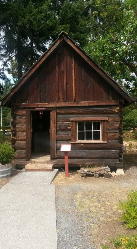 French Creek Post Office One of 8 heritage buildings located in Parksville Museum. #postoffice #woodenstructures #parksvillemuseum