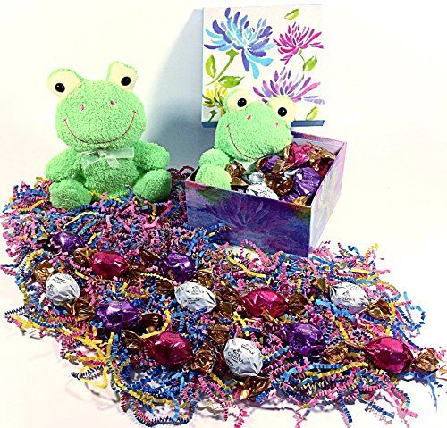 96 best easter images on pinterest easter decor easter ideas authentic godiva green frog easter gift basket alternative box gourmet truffles chocolate candy stuffed negle Images