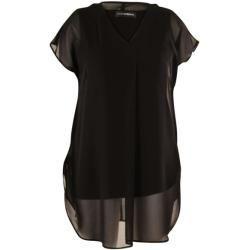 chiffon bluse schwarz doris streich kleider alltag kurz
