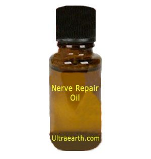 Nerve Repair contains Basil, Helichrysum italicum, Peppermint, and Marjoram. May aid repairing damaged nerves, stimulates circulation, eases inflammation and cramps. Works on the PSNS nerves, relieves pain, fights infection, repairs and regenerates connective tissue cells.