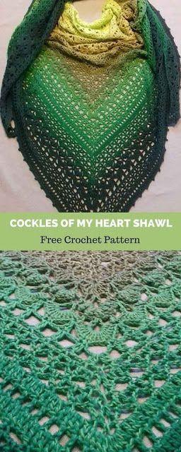 Knitting patterns: colorful knitted shawl patterns…