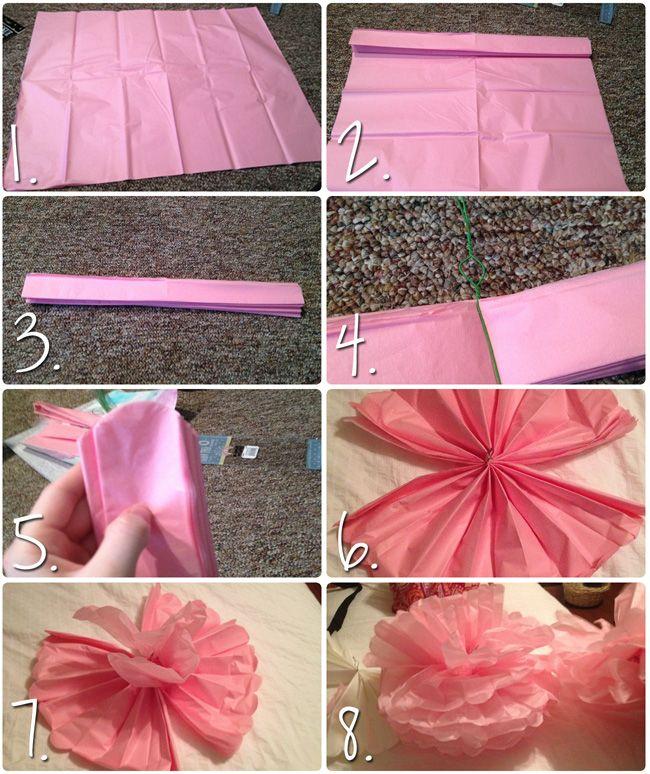 DIY: Tissue Paper PomPoms |