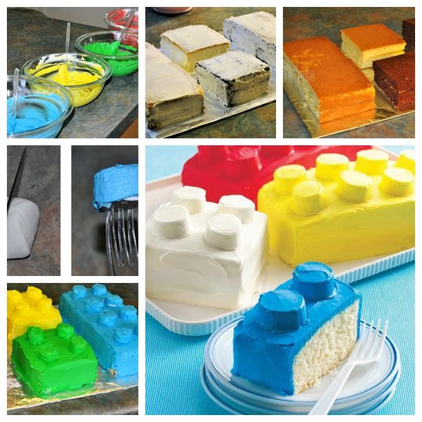 Lego Block Cake --- perfect for a child who enjoys LEGOs or a childhood-inspired party for adults.   Check recipe --> http://wonderfuldiy.com/wonderful-diy-cool-lego-block-cake/  More #DIY projects: www.wonderfuldiy.com