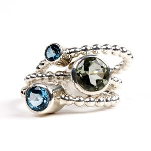 Carmine Ring Set Blue, $142, now featured on Fab.
